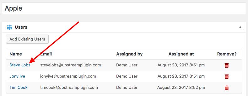 Editing an UpStream Client User