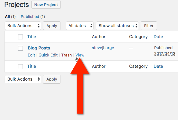 Find the URL for an UpStream Project