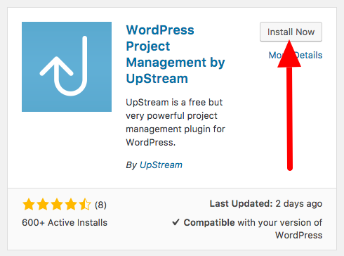Install the UpStream plugin