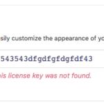 UpStream license key not valid