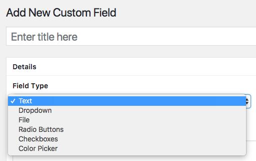 choosing a field type