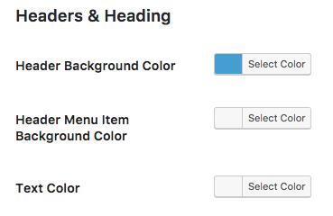 UpStream Header Color