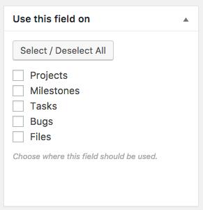 assigning custom fields