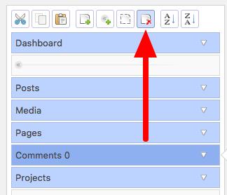 Deleting a WordPress Admin menu link