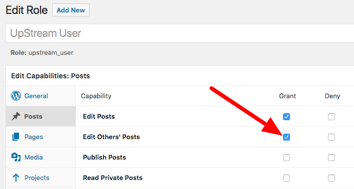 Edit Others Posts role in WordPress