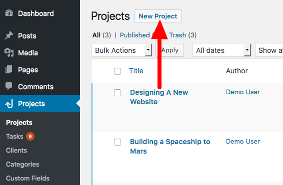 Creating a new todo list in WordPress