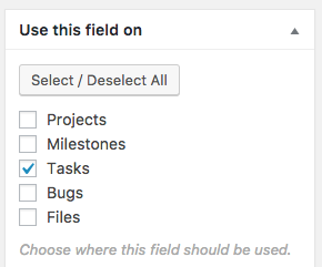 Use Tags fields on Tasks