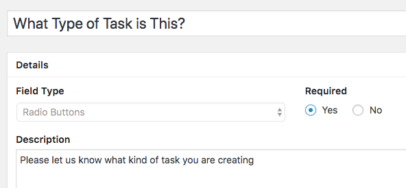 New WordPress custom field for a to-do list