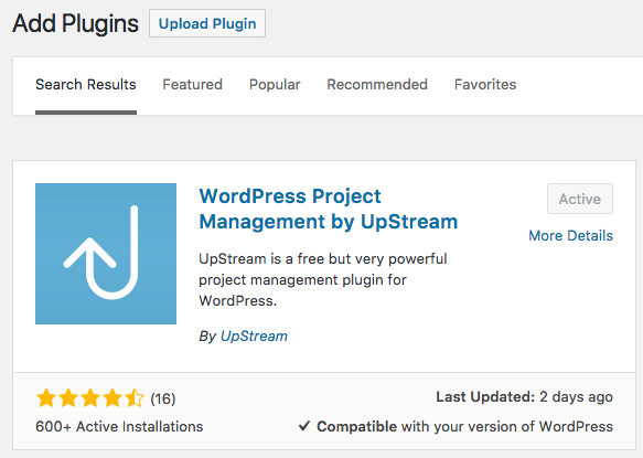 Installing UpStream in a WordPress multisite