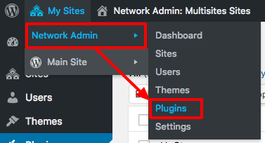 Network admin link for Plugins