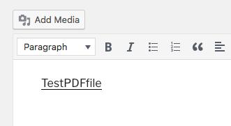 PDF file upload in WordPress