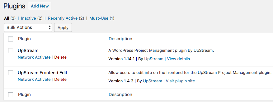 Installing plugins in a WordPress multisite