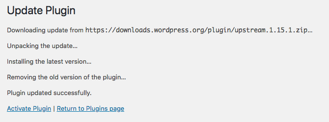 Activating a WordPress plugin