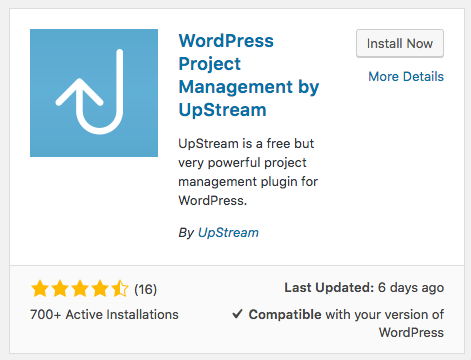 Installing UpStream to a WordPress site