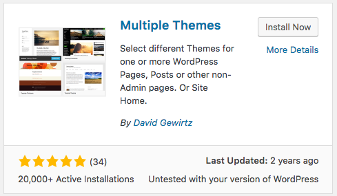 How to Show Multiple Themes on a WordPress Site | UpStream