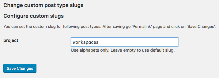 Changing WordPress post type slugs