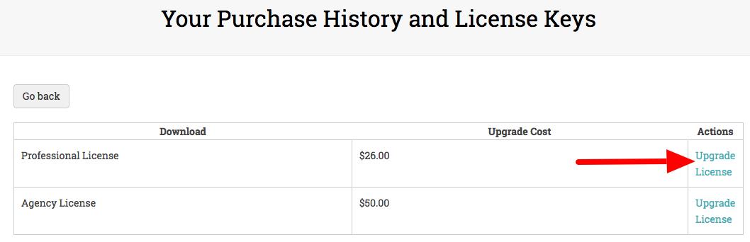 Upgrade your UpStream license
