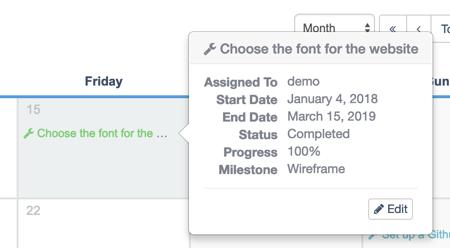 Edit items in UpStream calendar
